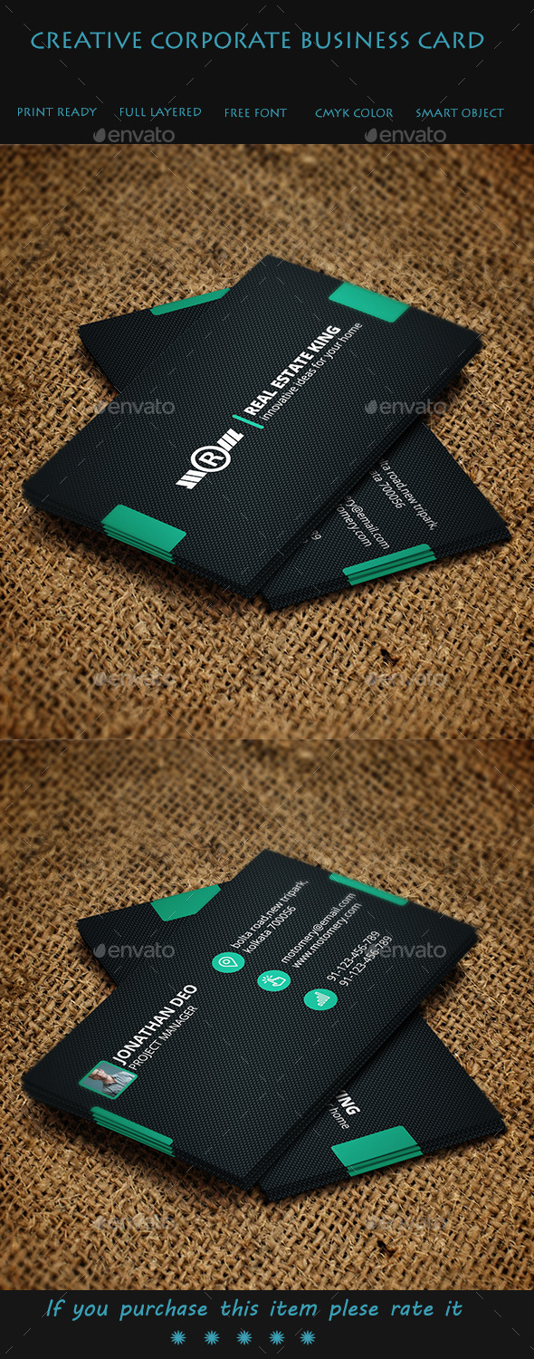 GraphicRiver Creative Corporate Business Card 9524174