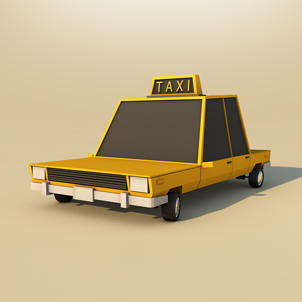 3DOcean Low poly Taxi 9524266