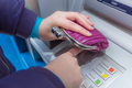 Woman covering her hands with her wallet - PhotoDune Item for Sale