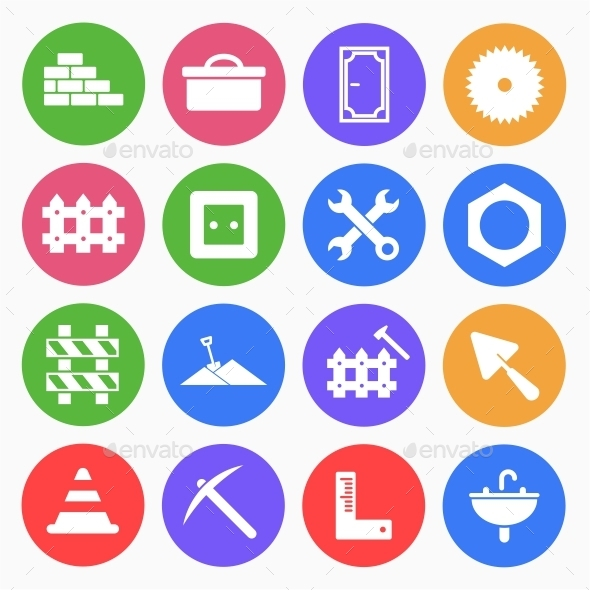 Construction Flat Icons 3
