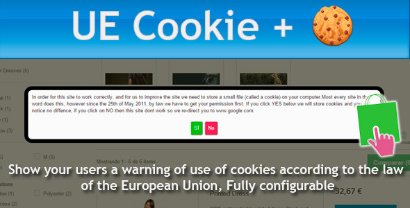 Prestashop UE Cookie + European Cookies Law - CodeCanyon Item for Sale