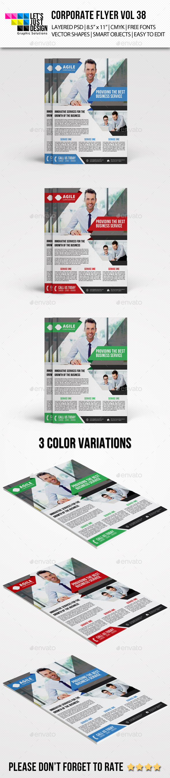 GraphicRiver Corporate Flyer Template Vol 38 9524291