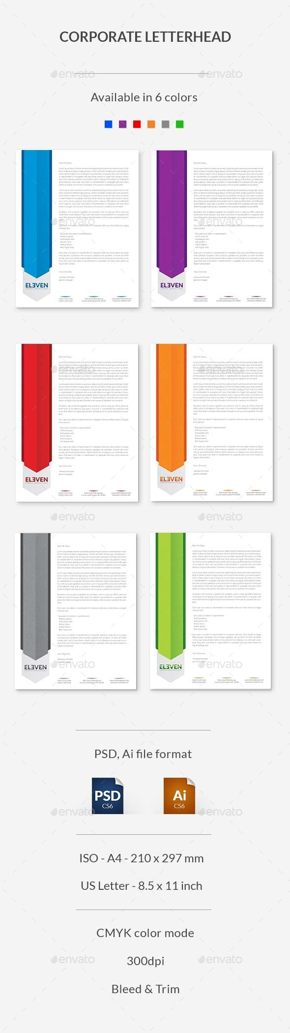 GraphicRiver Corporate Letterhead 9524328