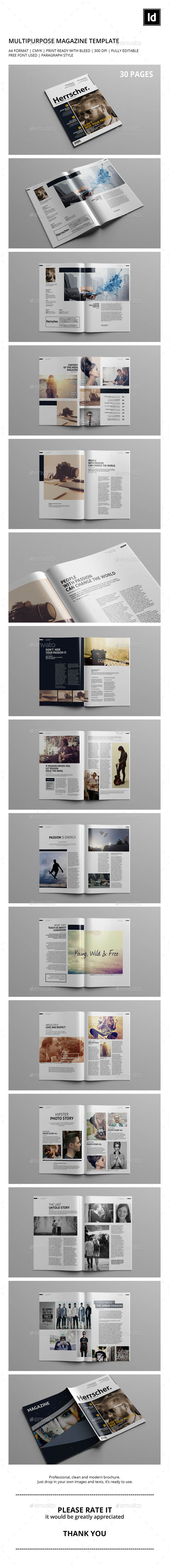 GraphicRiver Multipurpose Magazine Template 9524554