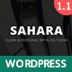 Sahara - Personal WordPress Blog Theme - ThemeForest Item for Sale