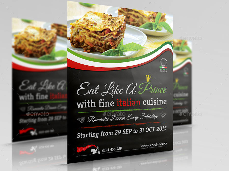 Italian food restaurant flyer vol 2 by owpictures graphicriver