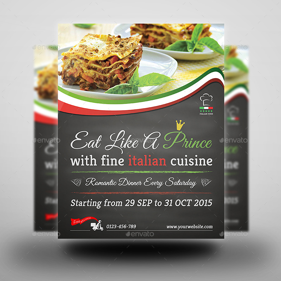 Flyer template jpg 02 italian food restaurant flyer template