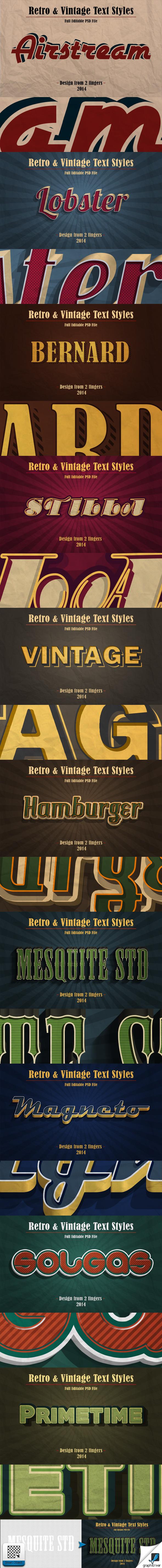 GraphicRiver Retro & Vintage Text Styles Vol.1 9524591