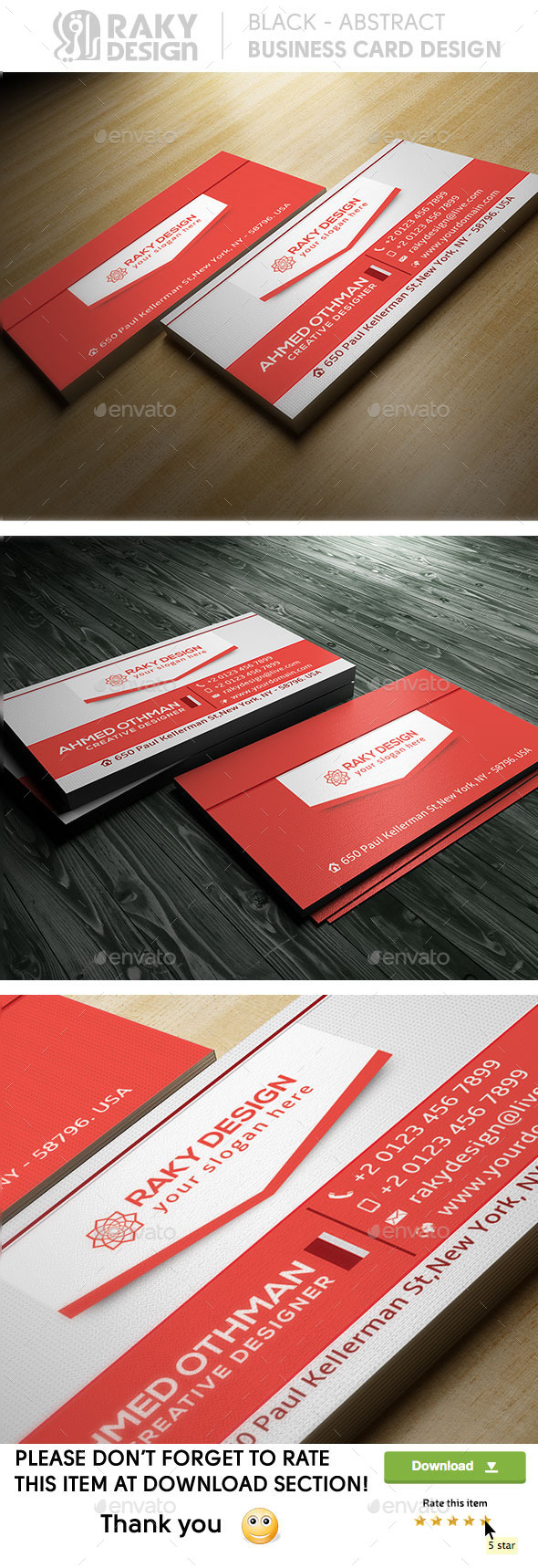 GraphicRiver Corporate Business Card 9524812