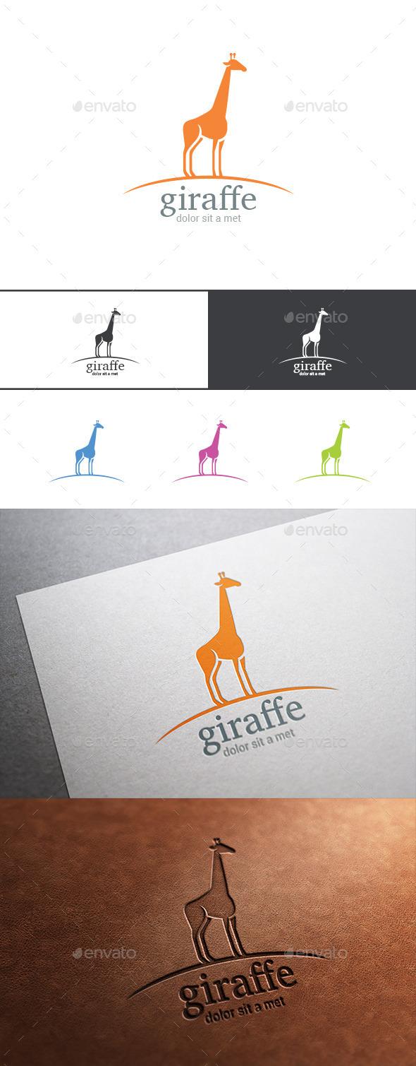GraphicRiver Logo Giraffe Silhouette 9524886