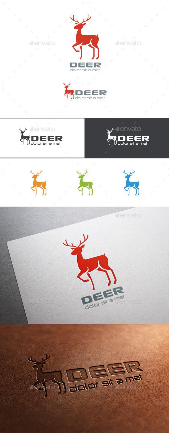 Logo Deer Silhouette