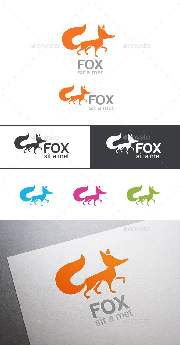 GraphicRiver Logo Fox Silhouette 9524942
