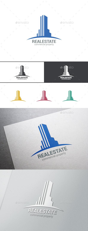 GraphicRiver Logo Real Estate Skyscraper 9524984