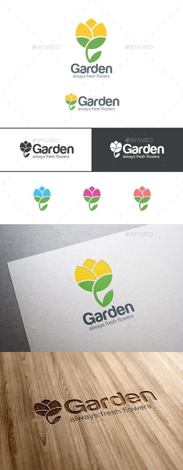 GraphicRiver Flower Logo Abstract Garden 9524995