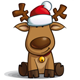 Christmas Elks Sitting - GraphicRiver Item for Sale
