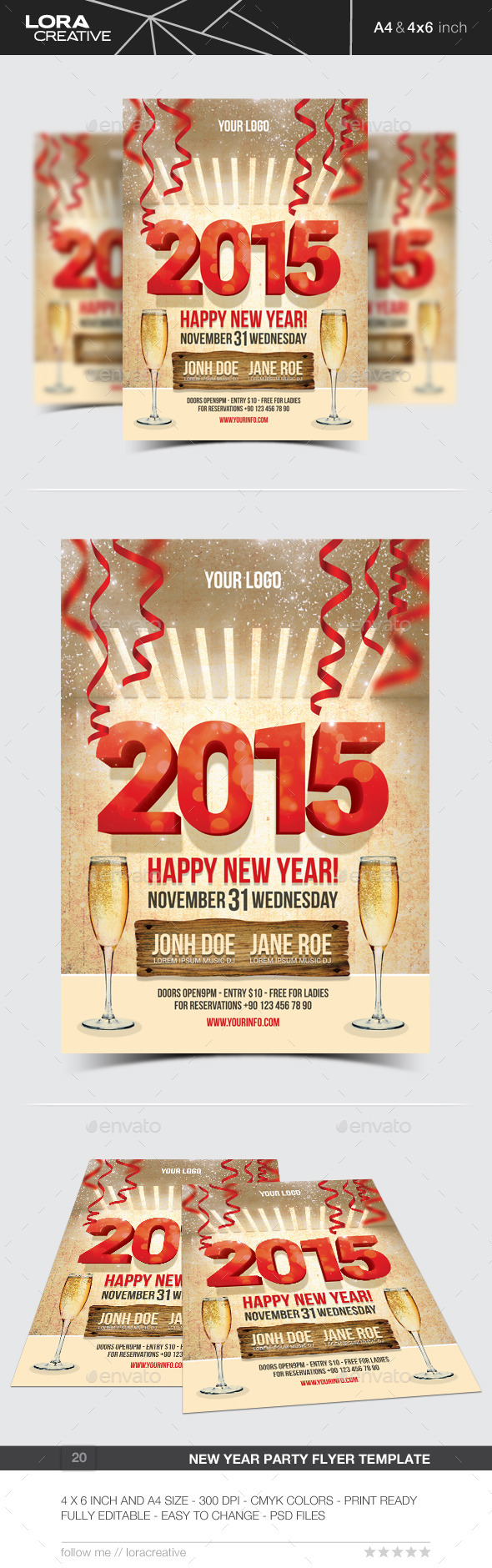 GraphicRiver New Year Party Flyer Poster 20 9525232