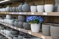 Garden shop with stone flowerpots - PhotoDune Item for Sale