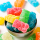 Gummy bears coated in granulated sugar - PhotoDune Item for Sale