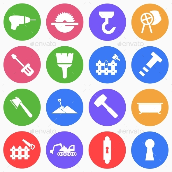 GraphicRiver Construction Flat Icons 4 9525441