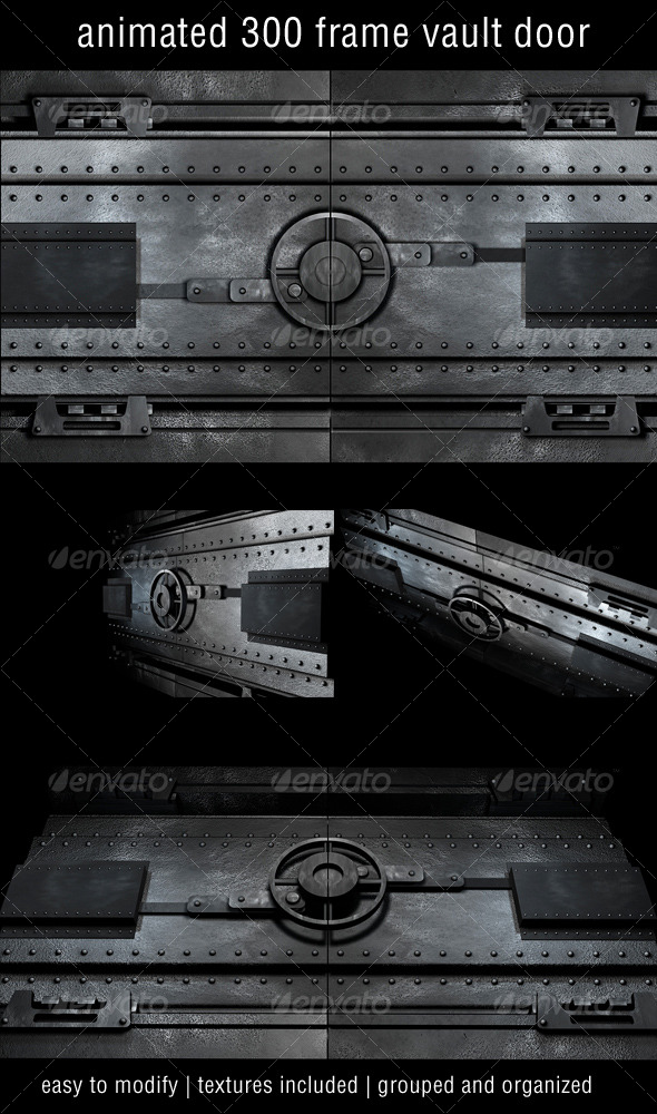 Vault Door 01 - 3DOcean Item for Sale