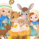 Holy Family at Christmas night - GraphicRiver Item for Sale