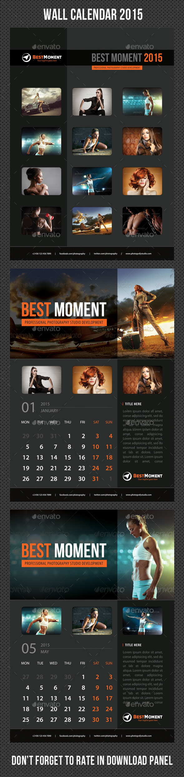 GraphicRiver Wall Calendar 2015 V18 9525584
