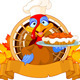 Turkey holds Pie - GraphicRiver Item for Sale
