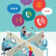 Office Workers with Speech Bubbles - GraphicRiver Item for Sale