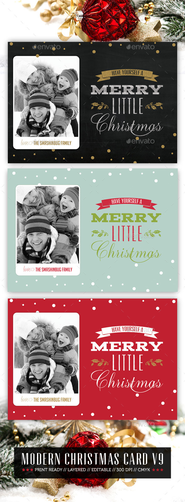 GraphicRiver Modern Christmas Card V9 9525868