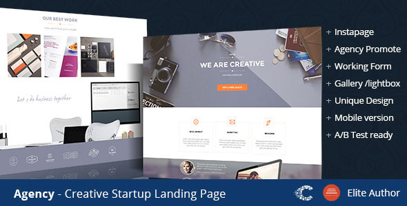 ThemeForest Agency Creative Landing Page 9525986
