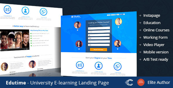 ThemeForest Edutime Course Instapage Landing 9525990