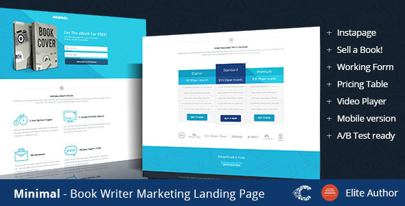 ThemeForest Minimal Instapage Landing Page 9526005