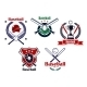 Colored Baseball Emblems and Badges - GraphicRiver Item for Sale