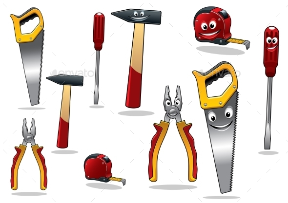 GraphicRiver Set of DIY Cartoon Tools 9526073