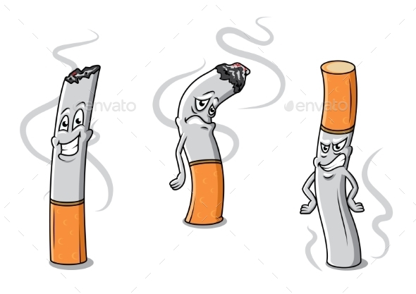 GraphicRiver Cigarettes Characters 9526076