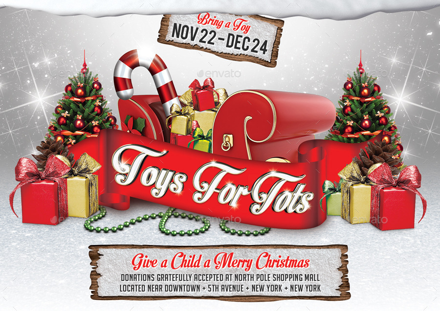 Printable Toys For Tots Logo : Toys for tots charity flyer v by viral legacy graphicriver