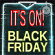 Black friday - 3D Sign board - Rigged and Animated