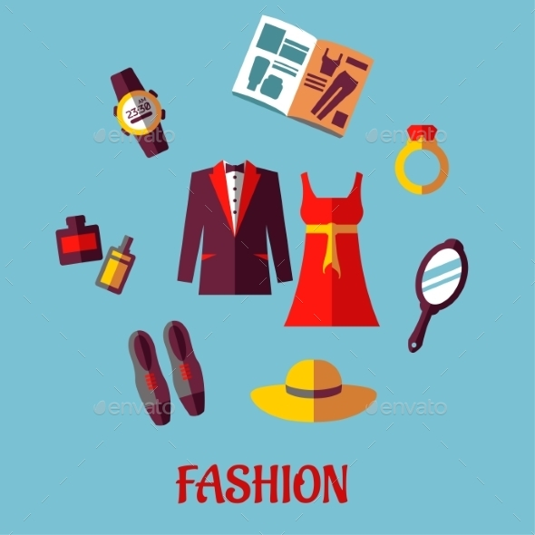 GraphicRiver Flat Fashion Icons 9526764