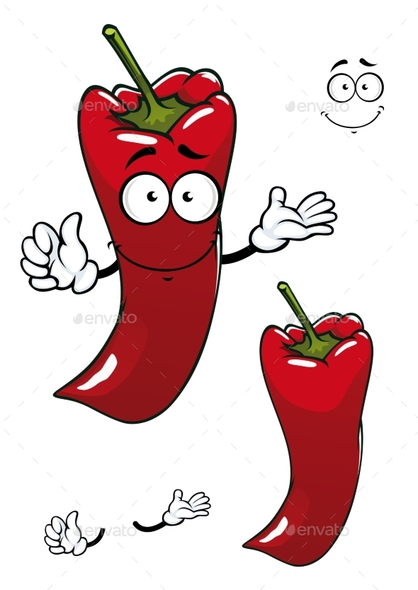 GraphicRiver Cartoon Red Pepper 9526825