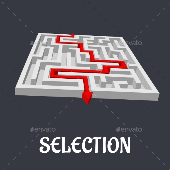 GraphicRiver Labyrinth with the Word Selection Below 9526829