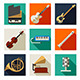 Musical Instruments Icons - GraphicRiver Item for Sale
