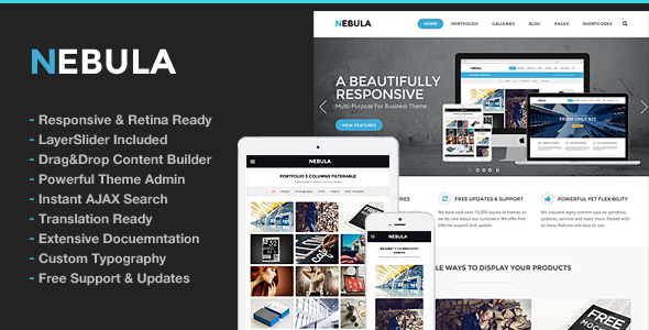 Nebula Responsive Multi-Purpose Theme - Business Corporate