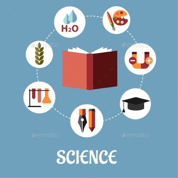 GraphicRiver Education and Science Flat Design 9527016