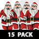 Santa Running Walking Styles Pack 15 - VideoHive Item for Sale