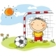 Boy playing Football as a Goalkeeper - GraphicRiver Item for Sale