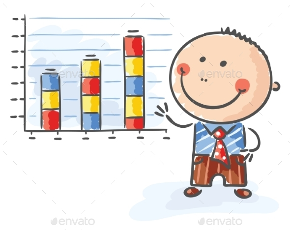 GraphicRiver Businessman with a Growing Chart 9527155