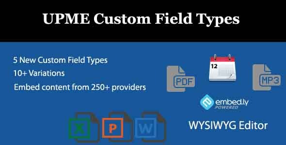 CodeCanyon UPME Custom Field Types 9527156