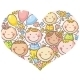 Kids Faces in Heart Shape - GraphicRiver Item for Sale