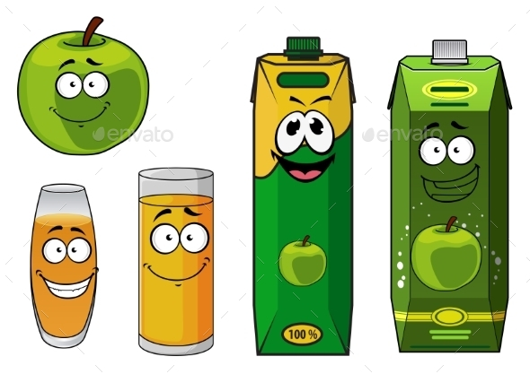 GraphicRiver Apple Juice Cartoon 9527170
