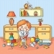 Boy holding his Cat - GraphicRiver Item for Sale